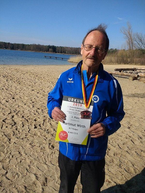 Hartmut Wirth erläuft deutschen Meistertitel über 100km
